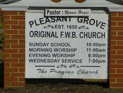 Pleasant Grove Free Will Baptist Church Cemetery