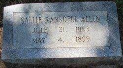 Sarah A. <i>Ransdell</i> Allen
