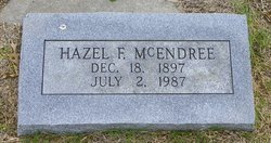 Hazel F <i>Williams</i> McEndree