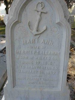 Mary Ann <i>Irvin</i> Callaway
