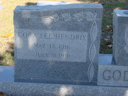 Cora Lee Cooter <i>Hendrix</i> Godbee
