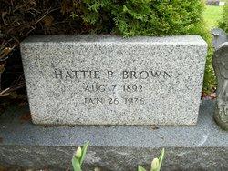 Hattie P <i>Neal</i> Brown