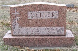 Bertha <i>Haller</i> Seiler