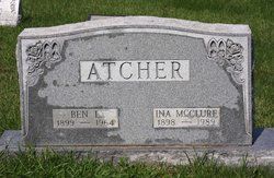Ina Bell <i>McClure</i> Atcher