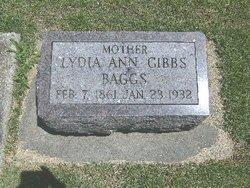 Lydia Ann <i>Gibbs</i> Baggs