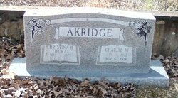 Christina H <i>Wurz</i> Akridge