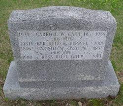 Carroll W Cash, Sr