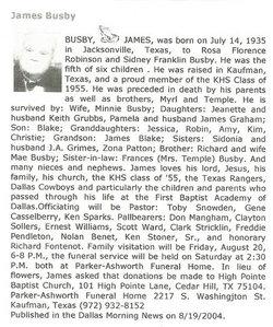 James W Busby