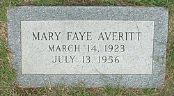 Mary Faye Faye <i>Hurst</i> Averitt