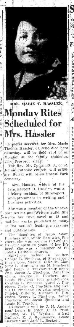 Marie Thelma <i>Pinchera</i> Hassler