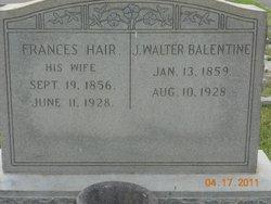 Frances <i>Hair</i> Balentine