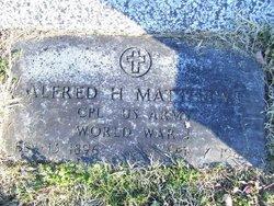 Alfred H Matthews