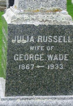 Julia Emma <i>Russell</i> Wade