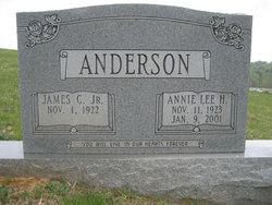 Annie Lee <i>Hunnicut</i> Anderson
