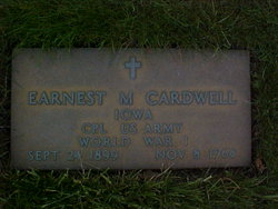 Ernest M Ernie or Earnest Cardwell