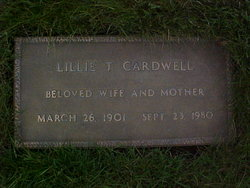 Lillie T Cardwell