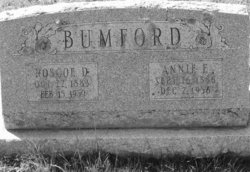 Annie E <i>Cole</i> Bumford