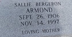 Sallie <i>Bergeron</i> Armond