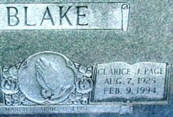 Clarice J <i>Page</i> Blake