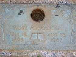 Rosa Ella Rose <i>Browning</i> Alexander
