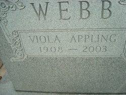 Viola <i>Appling</i> Webb