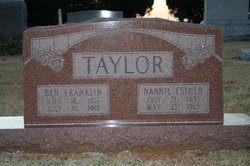 Nannie Esther <i>Bobo</i> Taylor