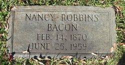 Nancy <i>Robbins</i> Bacon