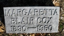 Margaretta <i>Blair</i> Cox