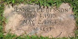 Jennie Lee Benson