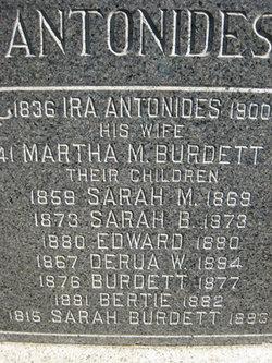 Martha M. <i>Burdett</i> Antonides
