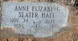 Anne Elizabeth <i>Slater</i> Hall