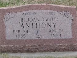 B. Joan <i>Watt</i> Anthony