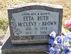 Etta Ruth <i>McCleve</i> Brown