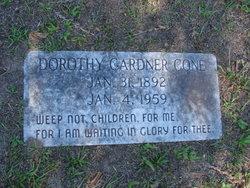 Dorothy <i>Gardner</i> Cone