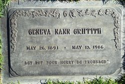 Nannie Geneva Nann <i>Nunn</i> Griffith