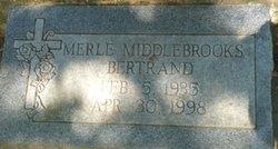 Merle <i>Middlebrooks</i> Bertrand