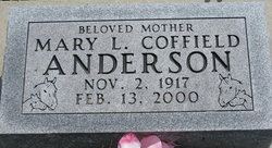 Mary L. <i>Coffield</i> Anderson