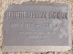Jeanette <i>Bartleson</i> Edmondson