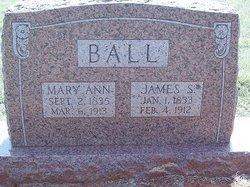 Mary Ann Polly <i>Sidwell</i> Ball