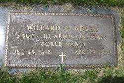Sgt Willard E Adler