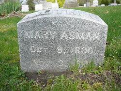 Mary <i>Stitts</i> Asman
