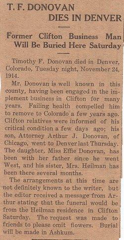 Timothy F. Donovan