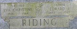 Eva Christine <i>Foster</i> Riding