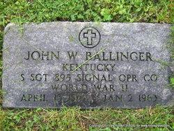 Sgt John W. Ballinger