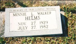 Minnie L. <i>Walker</i> Helms