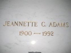 Jeannette Cecelia <i>Cullison</i> Adams
