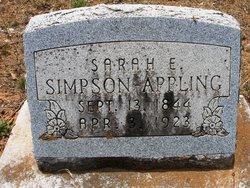 Sarah Elizabeth <i>Peavy</i> Appling