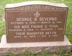 Fannie C <i>Titus</i> Severns