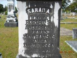 Sarah Elizabeth Sallie <i>Wooten</i> Anderson