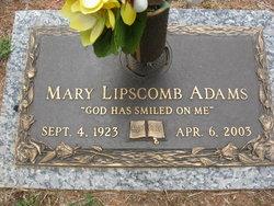 Mary <i>Lipscomb</i> Adams
